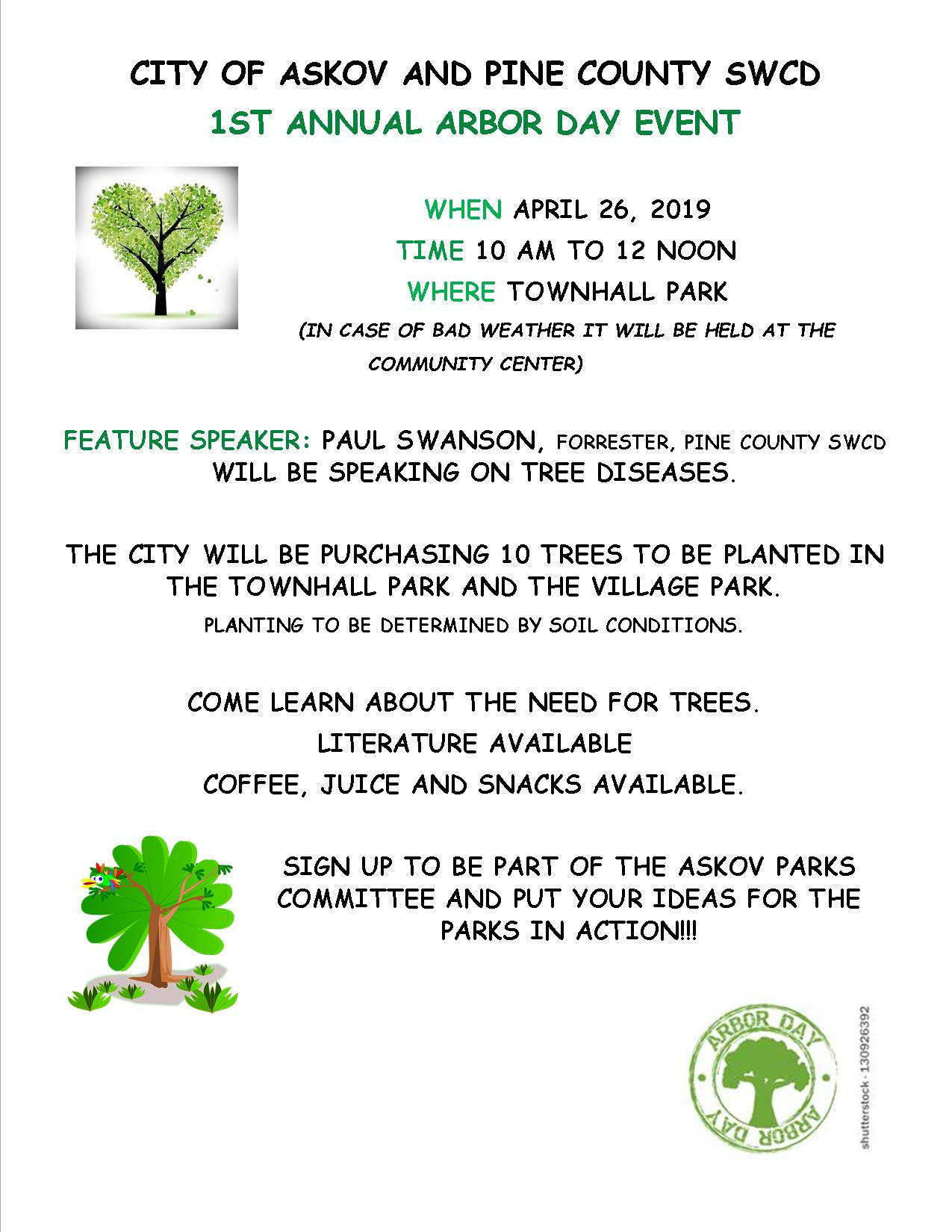 Arbor Day event flyer