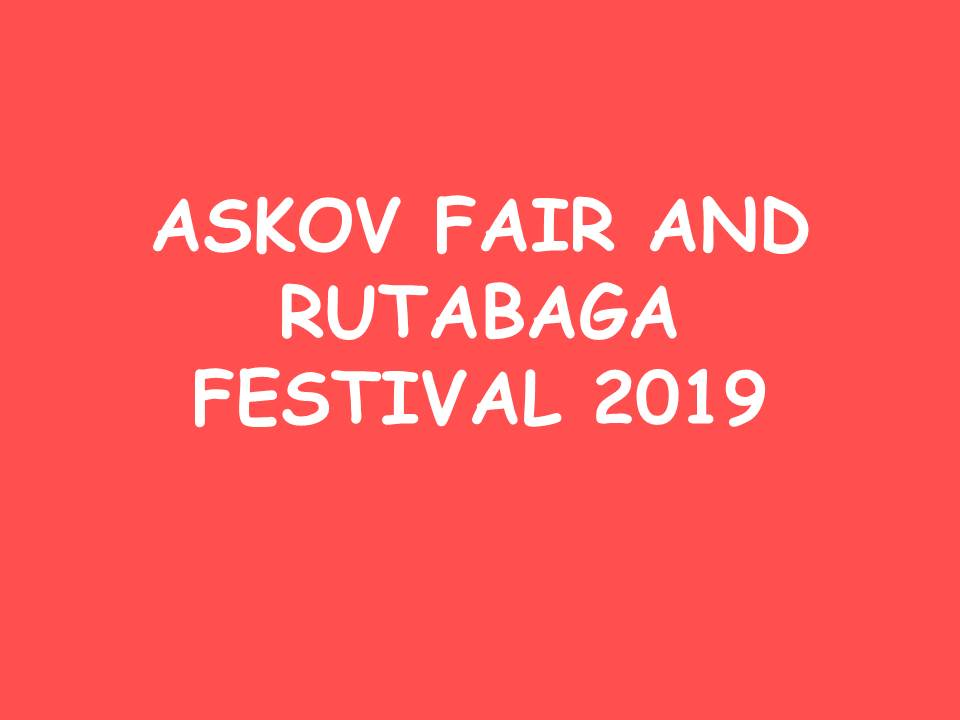 Askov Fair and Rutabaga Festival 2019 Slideshow