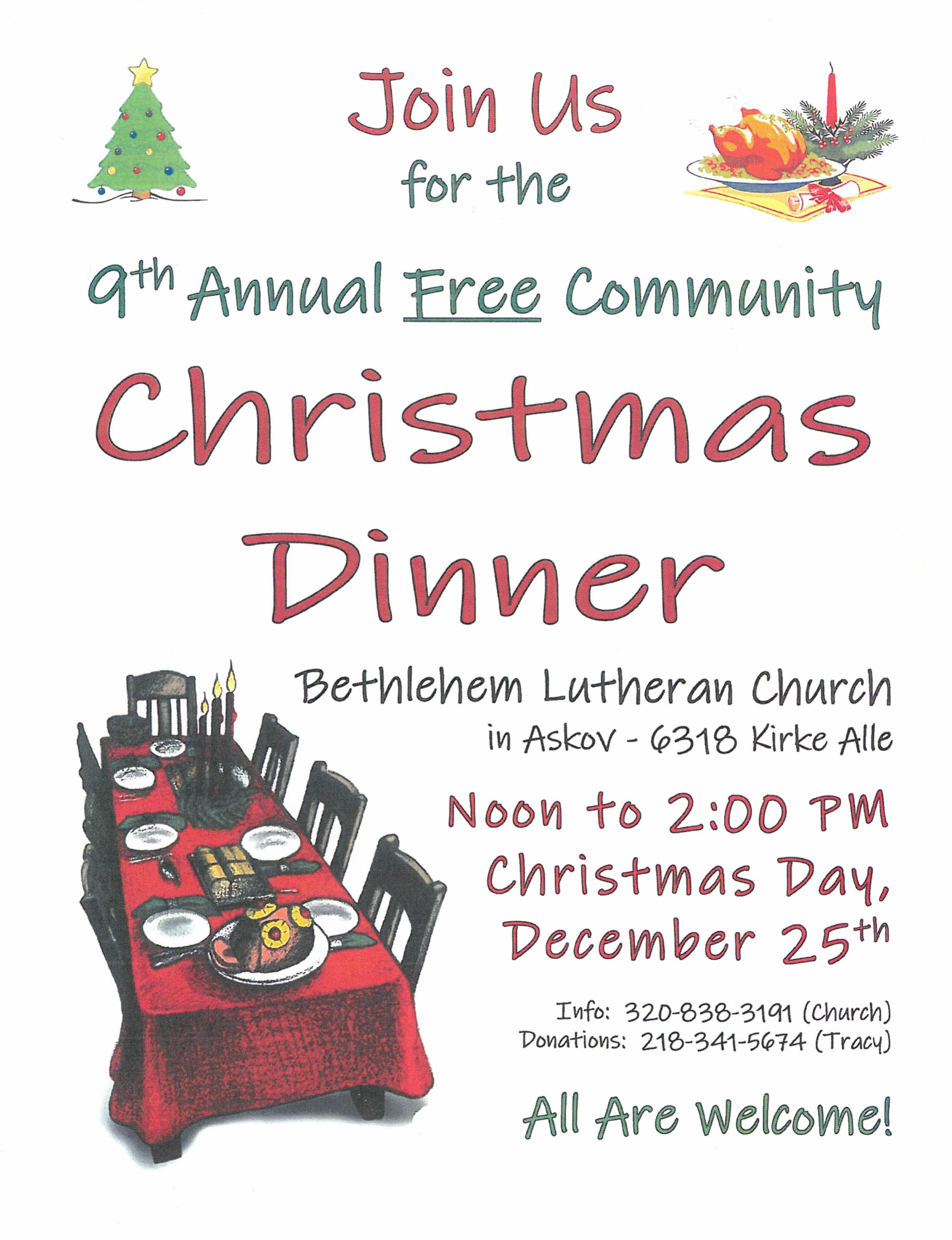 BLC Annual Free Community Christmas Dinner